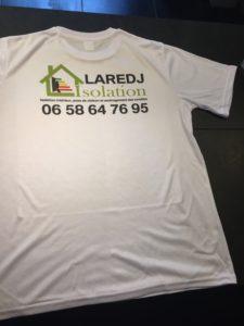 Personnalisation d'un tee-shirt mixte